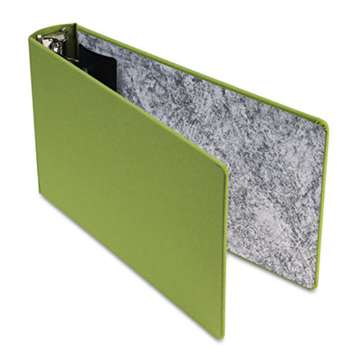 "Green canvas legal ring binder, 2"" cap, 14 x 8 1/2, green, sold as 1 each"