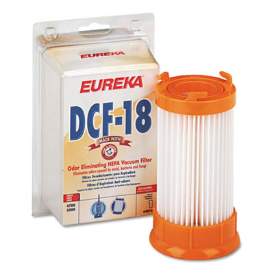 Dust cup filter for bagless upright vacuum cleaner, dcf-18, sold as 1 carton, 2 each per carton