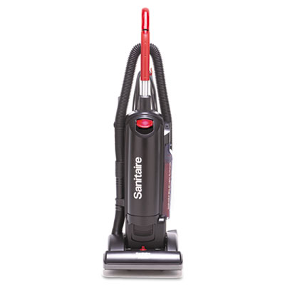Hepa filtration upright vacuum, 17 lb, black, sold as 1 each