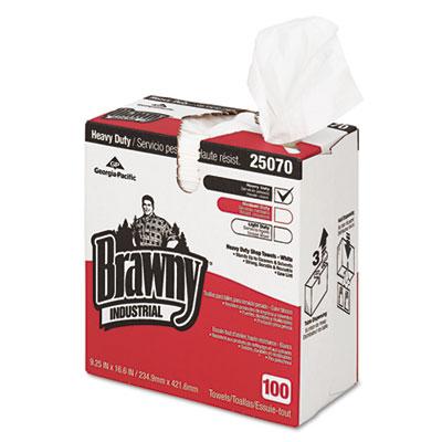 Heavy-duty shop towels, cloth, 9 1/10 x 16 1/2, 100/box, sold as 1 box, 100 each per box