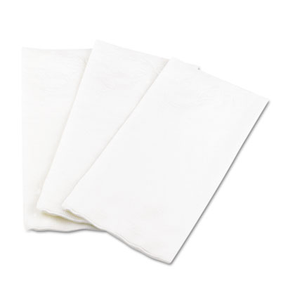 1/8 Fold Dinner Napkins, 15 x 16, White, 100/Pack | by Plexsupply
