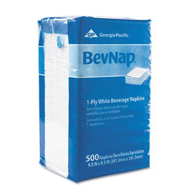 Beverage napkins, single-ply, 9 1/2 x 9 1/2, white, 4000/carton, sold as 1 carton, 4000 each per carton