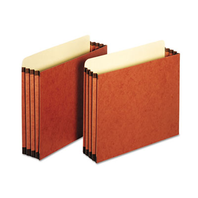 File cabinet pockets, straight cut, 1 pocket, letter, redrope, sold as 1 box, 10 each per box