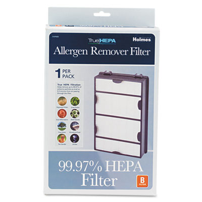 Replacement modular hepa filter for air purifiers, 10 x 6 1/2 x 2, sold as 1 each