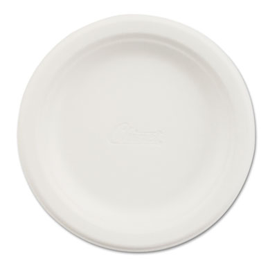 "Paper dinnerware, plate, 6"" dia, white, 125/pack, sold as 1 package"