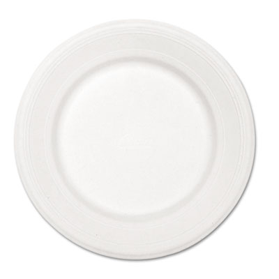 "Paper dinnerware, plate, 10 1/2"" dia, white, 500/carton, sold as 1 carton, 500 each per carton"