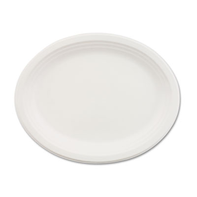 Classic paper dinnerware, oval platter, 9 3/4 x 12 1/2, white, 500/carton, sold as 1 carton, 500 each per carton