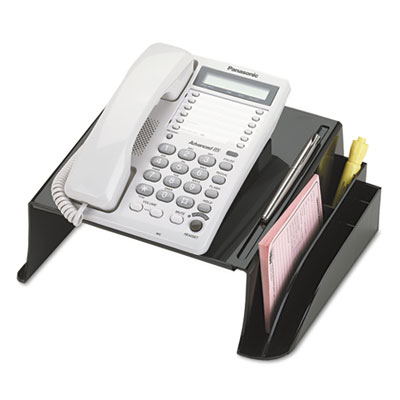 "Officemate 2200 series telephone stand, 12 1/4""w x 10 1/2""d x 5 1/4""h, black, sold as 1 each"