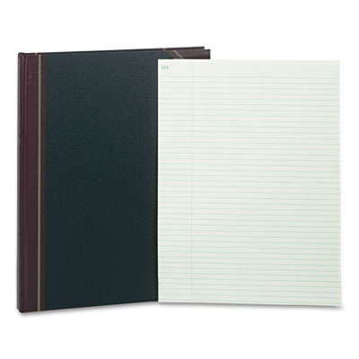 Texhide record-ruled book, 14-1/4 x 11-1/4, eye-ease gn, 300 sheets, sold as 1 each