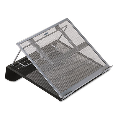 Laptop stand/holder, 13w x 11 3/4d x 6 3/4h, black/silver, sold as 1 each