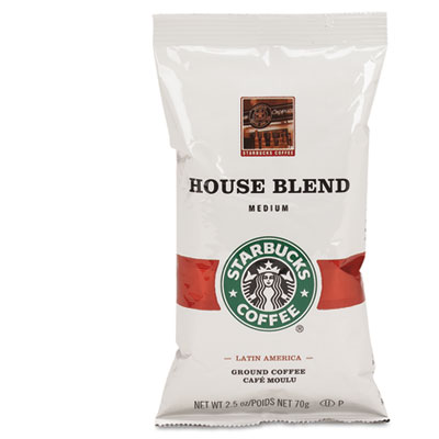 Coffee, regular house blend, 2.5oz packet, 18/box, sold as 1 box, 18 each per box