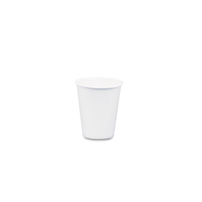 White paper water cups, 3oz, 100/bag, 50 bags/carton, sold as 1 carton, 5000 each per carton