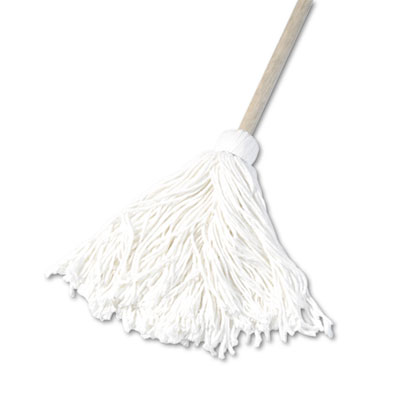 "Deck mop, 48"" wooden handle, 16oz rayon fiber head, 6/pack, sold as 1 carton, 6 each per carton"