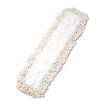 Industrial dust mop head, hygrade cotton, 36w x 5d, white, sold as 1 each