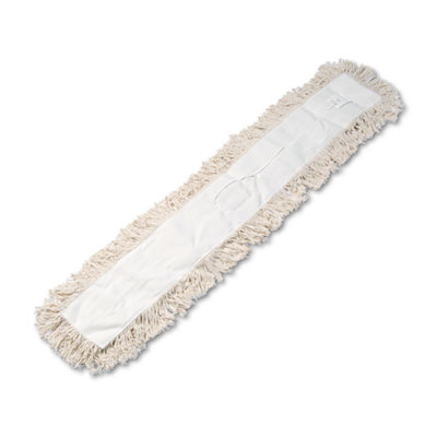 Industrial dust mop head, hygrade cotton, 48w x 5d, white, sold as 1 each
