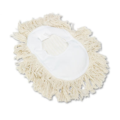 Wedge dust mop head, cotton, 17 1/2l x 13 1/2w, white, sold as 1 each
