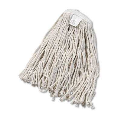 Cut-end wet mop head, cotton, no. 20, white, 12/carton, sold as 1 carton, 12 each per carton