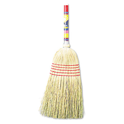 "Maid broom, mixed fiber bristles, 42"" wood handle, natural, 12/carton, sold as 1 carton, 12 each per carton"