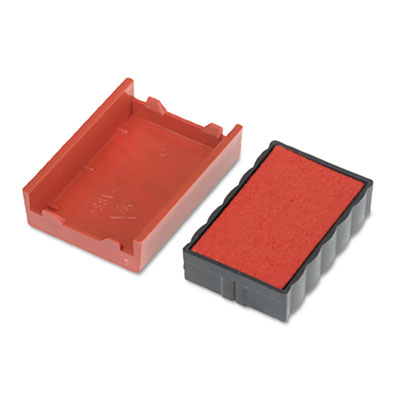 Trodat t4850 dater replacement pad, 3/16 x 1, red, sold as 1 each