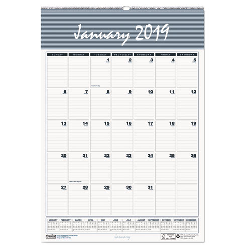 Bar harbor wirebound academic monthly wall calendar, 12 x 17, 2015-2016, sold as 1 each