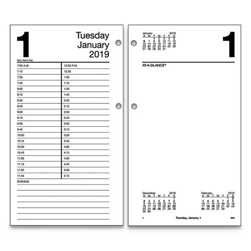 Large desk calendar refill, 4 1/2 x 8, white, 2016, sold as 1 each