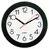 "Round Wall Clock, 9-3/4"", Black"