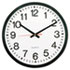 "Round Wall Clock, 11-1/2"", Black"