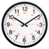 "24-Hour Round Wall Clock, 12 3/4"", Black"