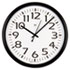 "Round Wall Clock, 13-1/2"", Black"