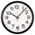 "Indoor/Outdoor Clock, 13-1/2"", Black"