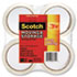 """Moving & Storage Tape, 1.88"""" x 54.6yds, 3"""" Core, Clear, 4 Rolls/Pack"""