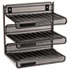 Mesh Three-Tier Letter Size Desk Shelf, 10 x 7 x 9 3/8, Black