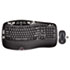 MK550 Wireless Desktop Set, Keyboard/Mouse, USB, Black