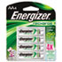 NiMH Rechargeable Batteries, AA, 4 Batteries/Pack