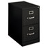 H410 Series Two-Drawer Locking Vertical File, 15w x 22d x 26-1/8h, Black