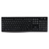 K270 Wireless Keyboard, USB Unifying Receiver, Black