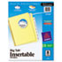 WorkSaver Big Tab Reinforced Dividers W/ Clear Tabs, 8-Tab, Letter, Buff, 1/Set