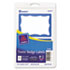 Printable Self-Adhesive Name Badges, 2-11/32 x 3-3/8, Blue Border, 100/Pack