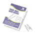 Panel Wall Wire Hooks, Silver, 25 Hooks/Pack