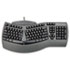 Ergonomic Split-Design Keyboard w/Antimicrobial Protection, 117 Keys, Black