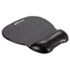 Gel Mouse Pad w/Wrist Rest, Nonskid Base, 8-1/4 x 9-5/8, Black