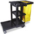 Multi-Shelf Cleaning Cart, Three-Shelf, 20w x 45d x 38-1/4h, Black