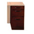 Sorrento Series Veneer Pencil/Box/File Pedestal For Desk Top, Bourbon Cherry