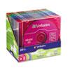 Verbatim® CD-RW Discs, 700MB/80min, 4X, Slim Jewel Case, Assorted Colors, 20/Pack VER94300