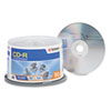 Verbatim® CD-R Discs, 700MB/80min, 52x, Spindle, Silver, 50/Pack VER94691