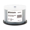 Verbatim® Printable CD-R Discs, 700MB/80min, 52x, Spindle, White, 50/Pack VER94795