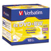Verbatim® DVD+RW Discs, 4.7GB, 4x, w/Slim Jewel Cases, Pearl, 10/Pack VER94839