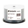Verbatim® CD-R Discs, Printable, 700MB/80min, 52x, Spindle, White, 50/Pack VER94904