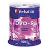 Verbatim® DVD+R Discs, 4.7GB, 16x, Spindle, 100/Pack VER95098