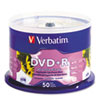 Verbatim DVD+R White Ink Jet Printable Storage Media, 20 Pack